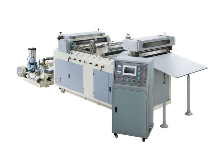 DFJ600A AUTOMATIC FOOD PAPER ROLL TO SHEET CUTTING MACHINE