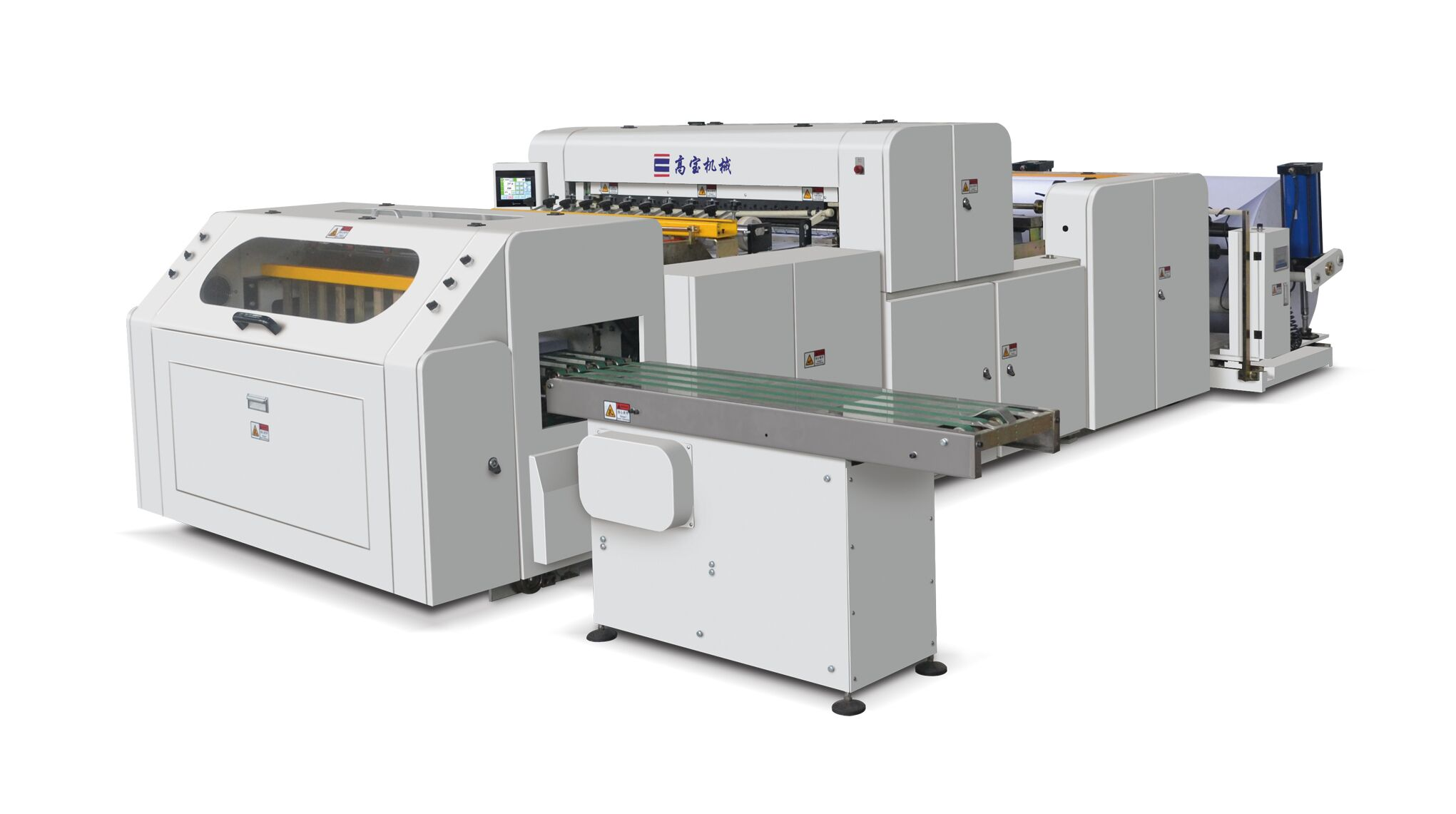 Full Automatic A4 Paper Roll Sheet Cutting Machine HQJ1100